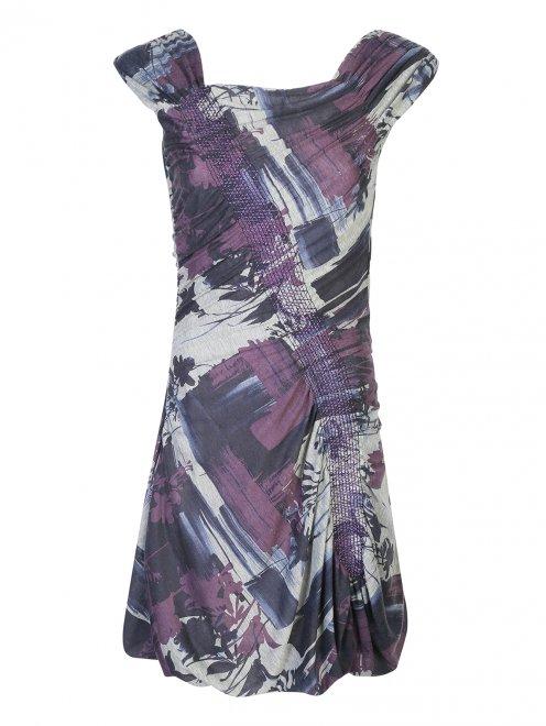Мини-платье с принтом - Общий вид