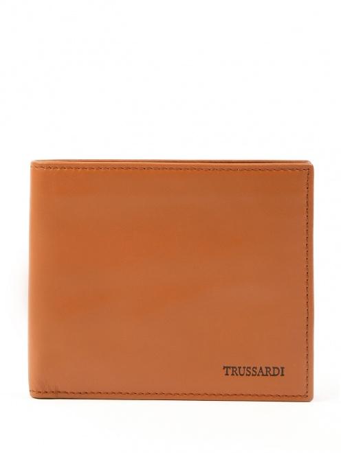 Однотонный кошелек из мягкой кожи - Общий вид