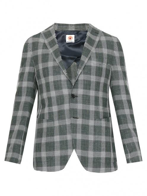 Пиджак из шерсти и льна  - Общий вид