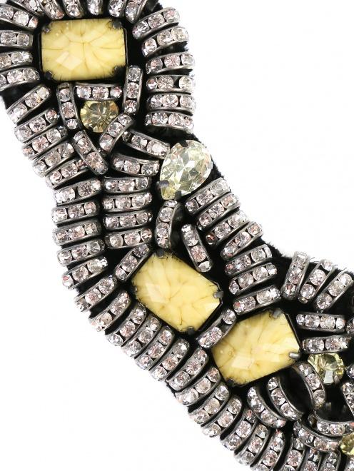 Колье из кристаллов и металла - Деталь1
