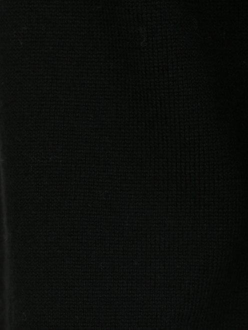 Джемпер шерстяной с контрастным воротником и манжетами - Деталь