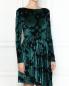 Платье-мини из бархата с цветочным узором Max&Co  –  МодельВерхНиз