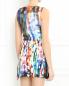 Платье с узором и баской MC Alexander McQueen  –  Модель Верх-Низ1