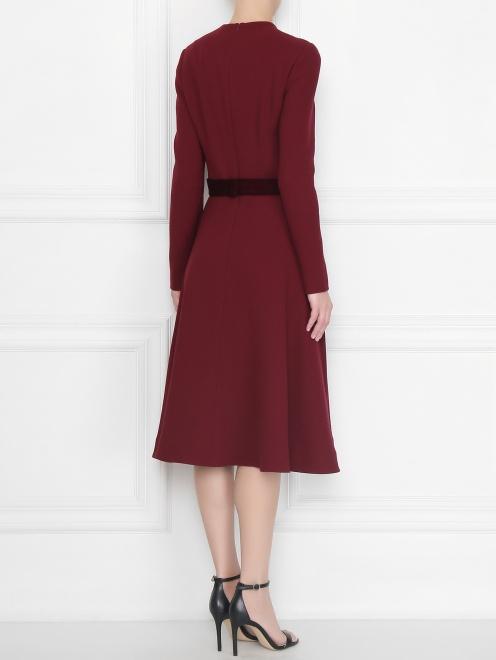Платье приталенное, из шерсти - МодельВерхНиз1