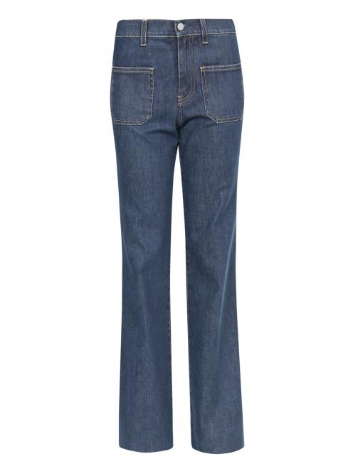 Джинсы-клеш с накладными карманами - Общий вид