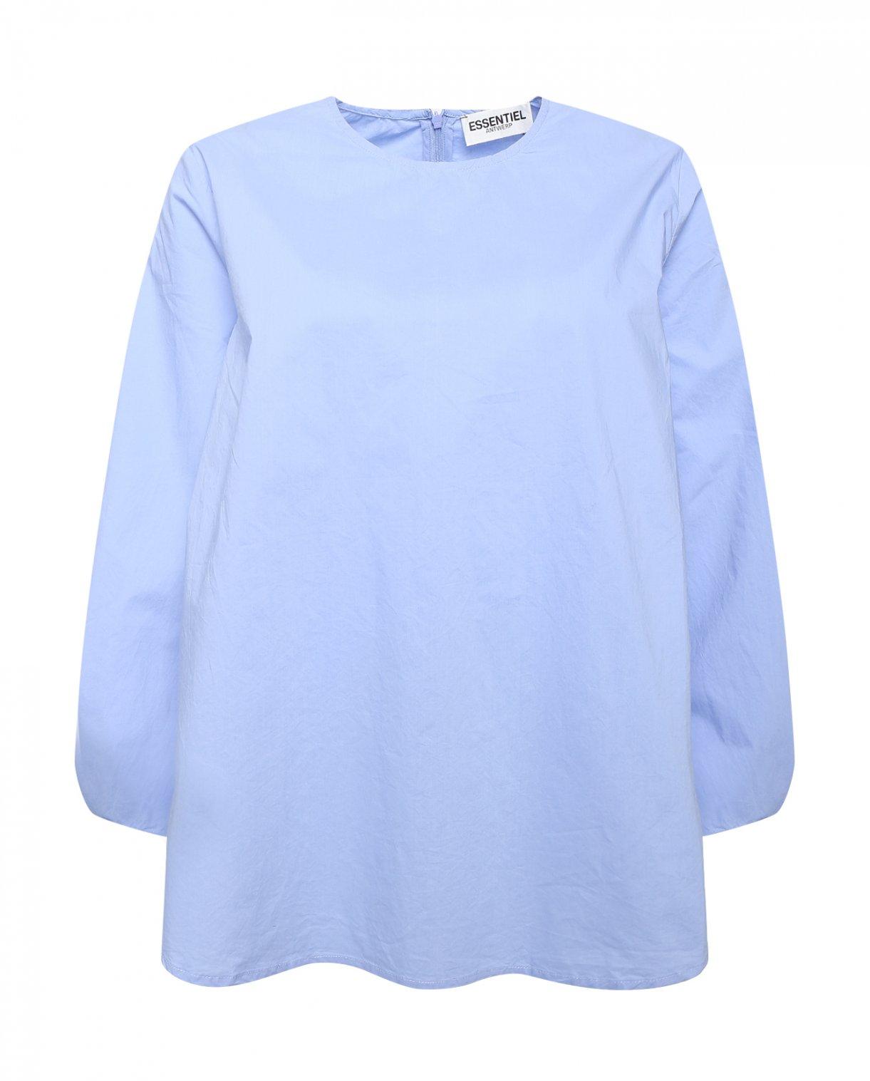 Рубашка из хлопка с длинным рукавом Essentiel Antwerp  –  Общий вид  – Цвет:  Фиолетовый