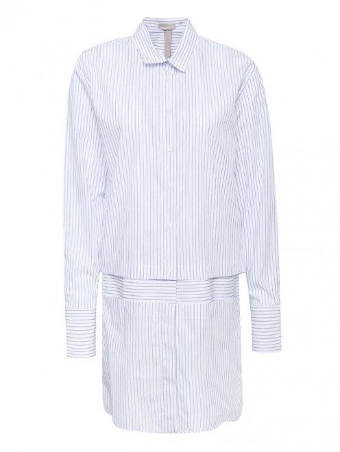 Платье рубашка из хлопка с отстегивающимися деталями - Общий вид