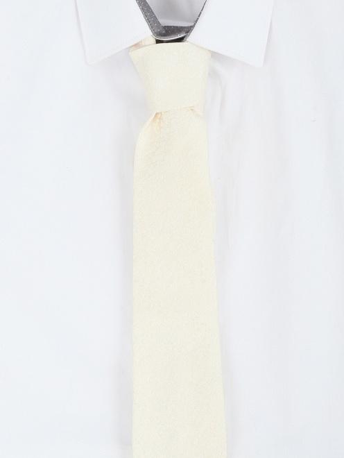 Галстук из шелка с узором  - Модель Общий вид