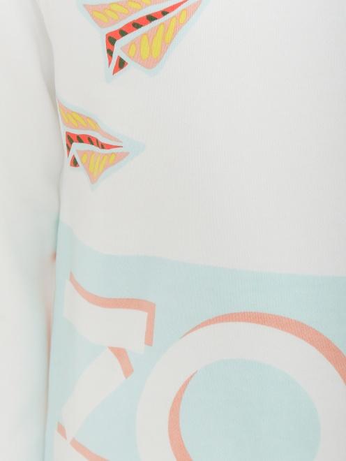 Толстовка из хлопка с принтом - Общий вид