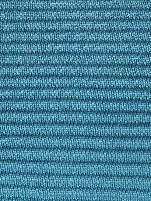 Трикотажное пончо из шерсти фактурной вязки - Деталь1