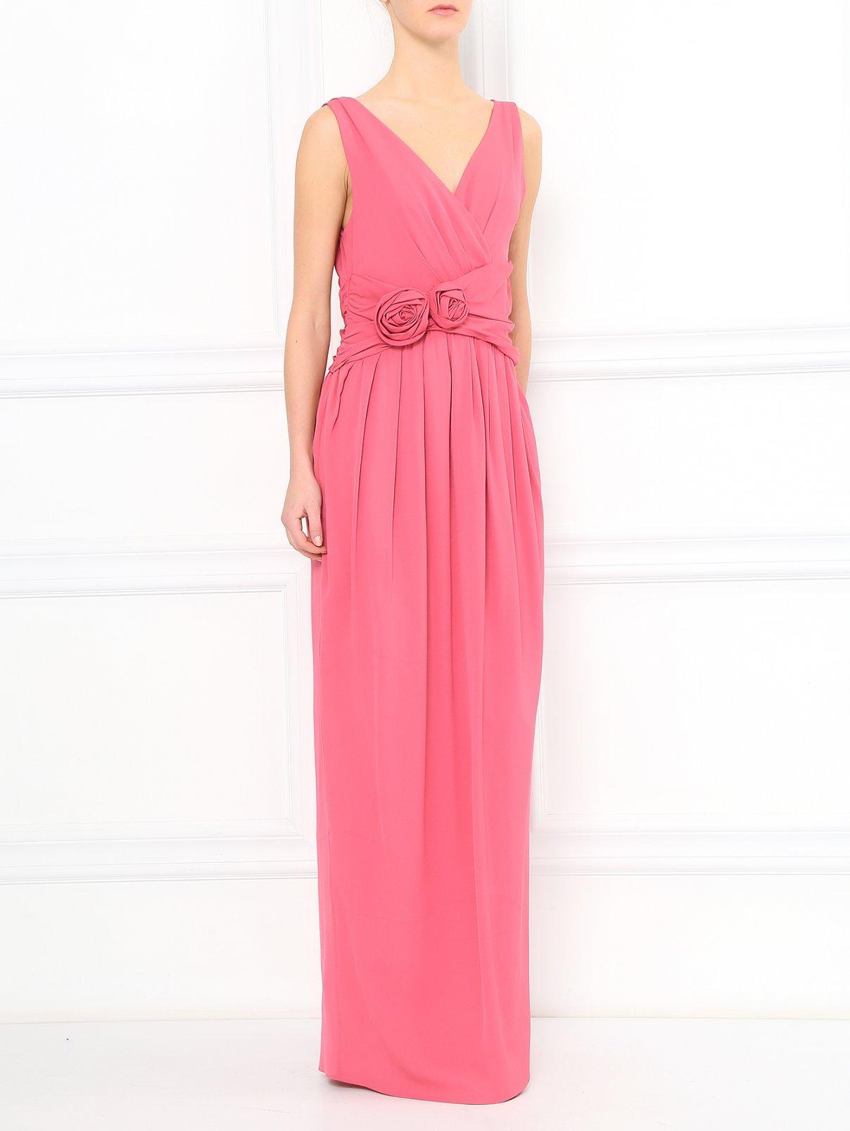 Платье-макси из шелка с драпировкой Moschino  –  Модель Общий вид