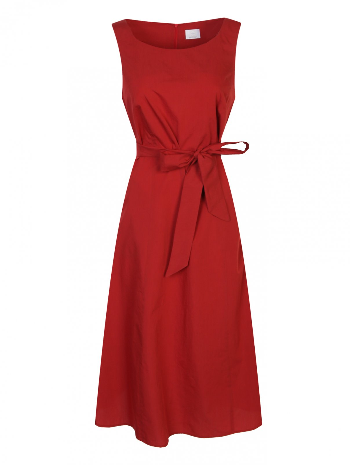 Платье из хлопка и шелка без рукавов Marina Rinaldi  –  Общий вид