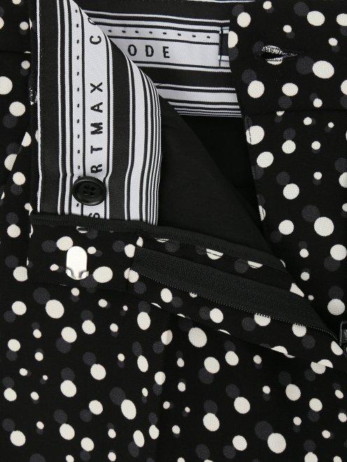 """Укороченные брюки с узором """"горох""""  - Деталь1"""