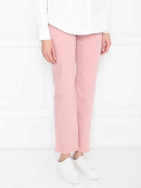 Укороченные джинсы из хлопка - МодельВерхНиз
