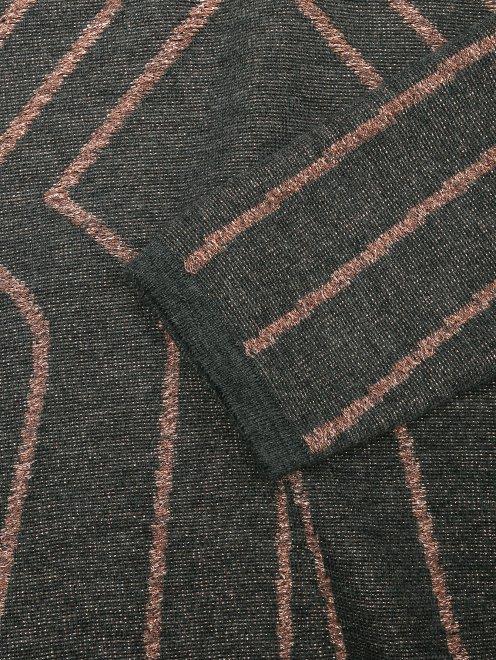 Трикотажное платье-мини из шерсти с узором - Деталь