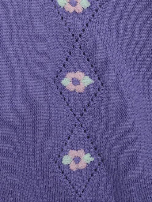 Джемпер из шерсти с вышивкой - Деталь