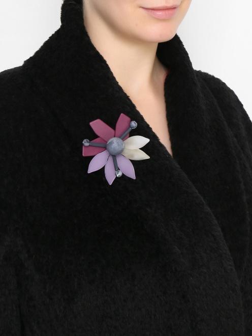 Брошь в виде цветка из пластика - МодельВерхНиз
