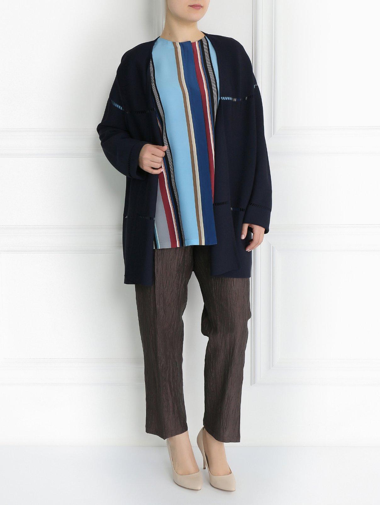Удлиненный кардиган с поясом Marina Rinaldi  –  Модель Общий вид