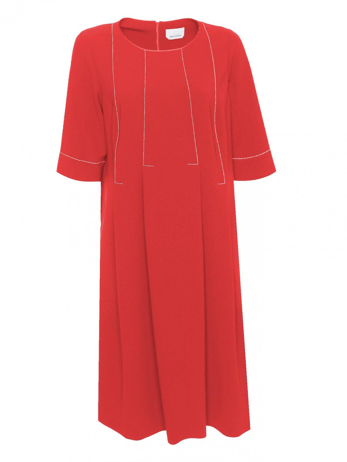 Платье-миди с контрастной отстрочкой Marina Rinaldi  –  Общий вид