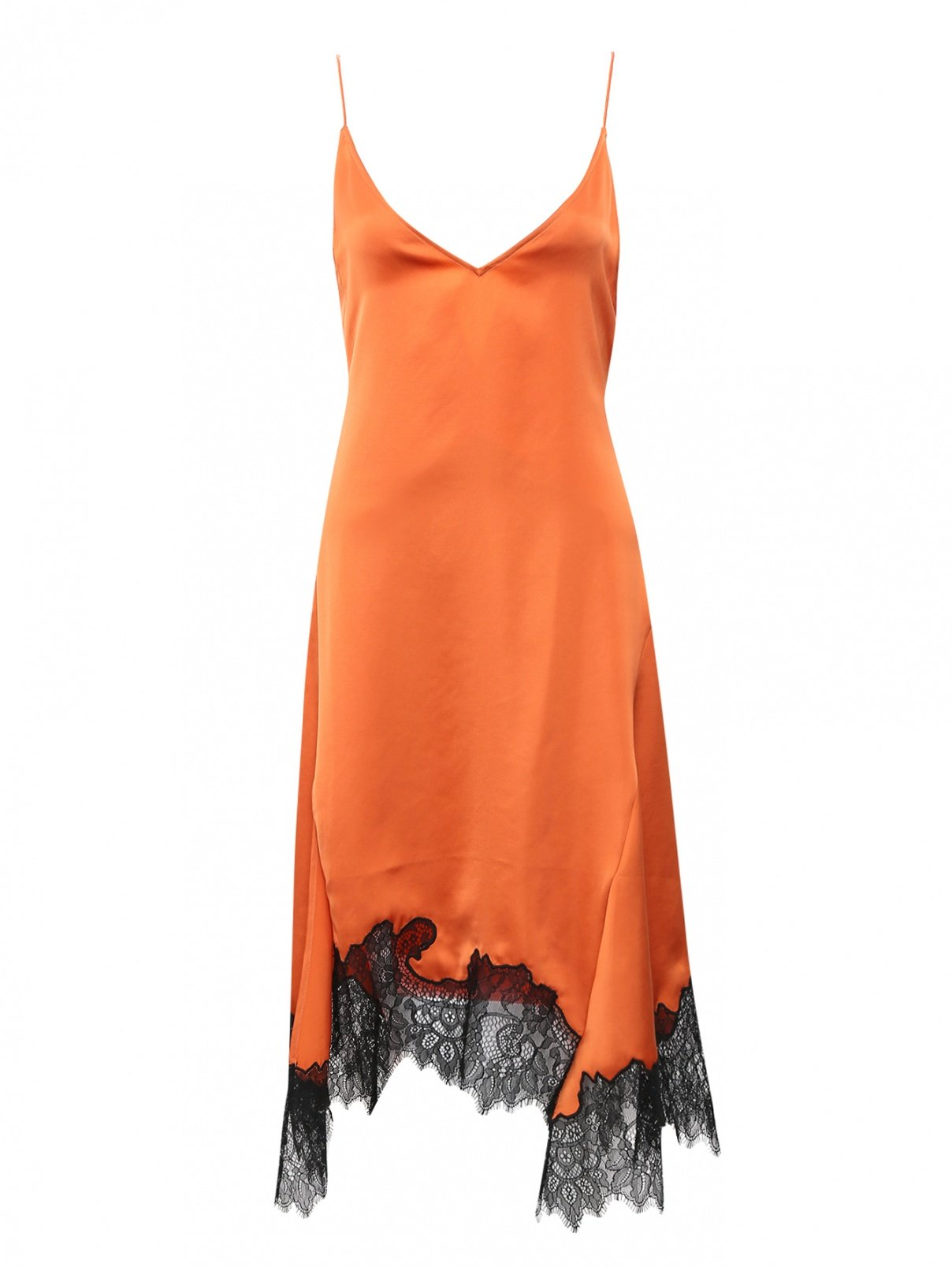 Платье на бретелях с кружевной отделкой Mo&Co  –  Общий вид