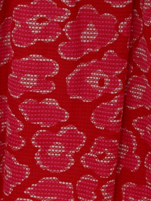 Юбка из хлопка и шелка с цветочным узором - Деталь
