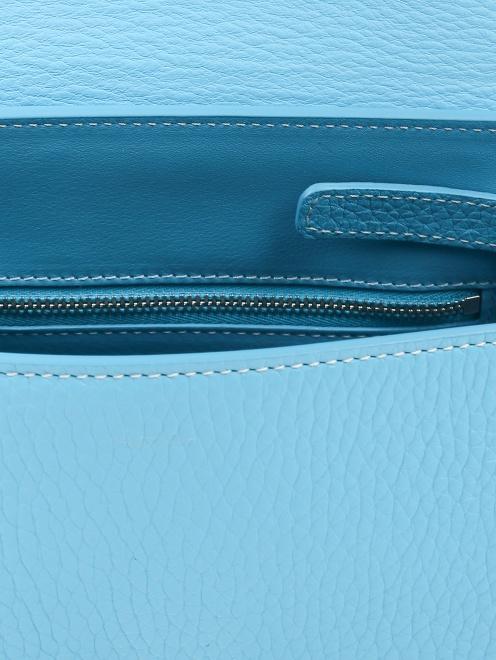 Сумка из кожи с перфорацией и декоративным платком - Деталь1