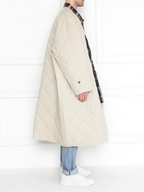 Стеганое пальто свободного кроя - МодельВерхНиз2