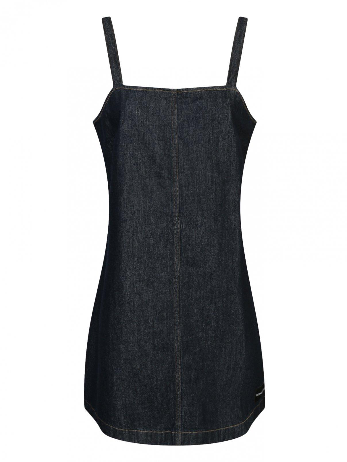 Джинсовое платье из темного денима Calvin Klein Jeans  –  Общий вид