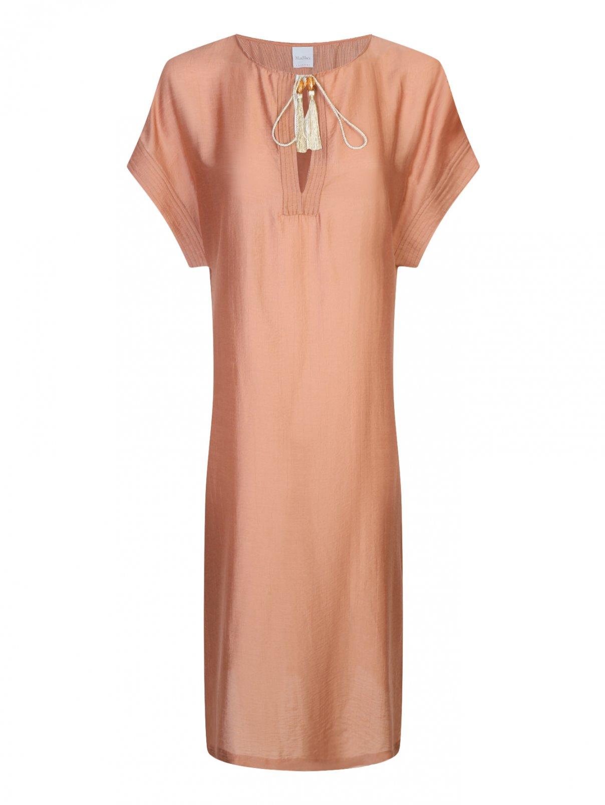 Платье свободного кроя с кисточками Max Mara  –  Общий вид