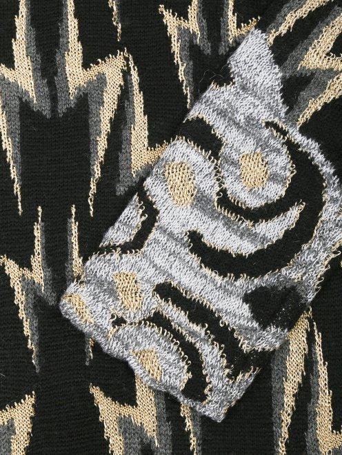 Трикотажное платье из шерсти с узором - Деталь