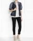 Жакет из хлопка и льна с контрастными вставками I'M Isola Marras  –  Модель Общий вид