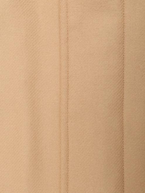 Пальто из смешанной шерсти с капюшоном и карманами  - Деталь