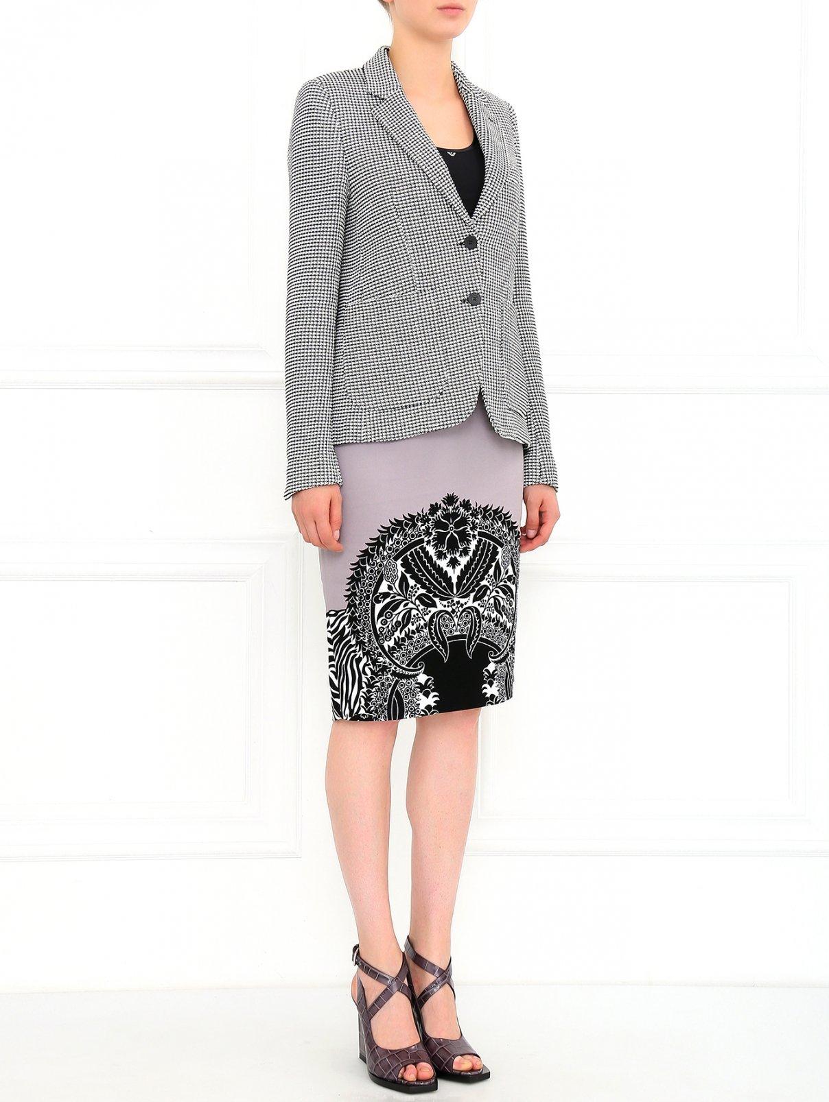 Кожаные босоножки на массивном каблуке Jil Sander  –  Модель Общий вид  – Цвет:  Серый