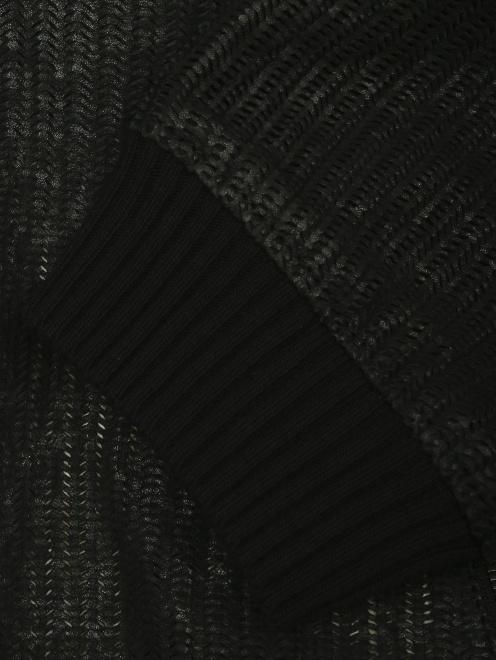 Куртка из кожи на молнии с капюшоном - Деталь1