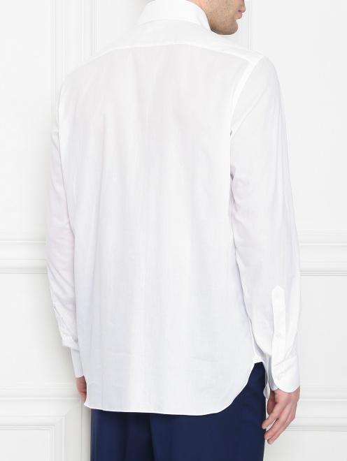 Рубашка их хлопка однотонная  - МодельВерхНиз1