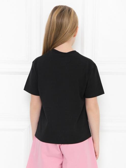 Хлопковая футболка с аппликацией - МодельВерхНиз1