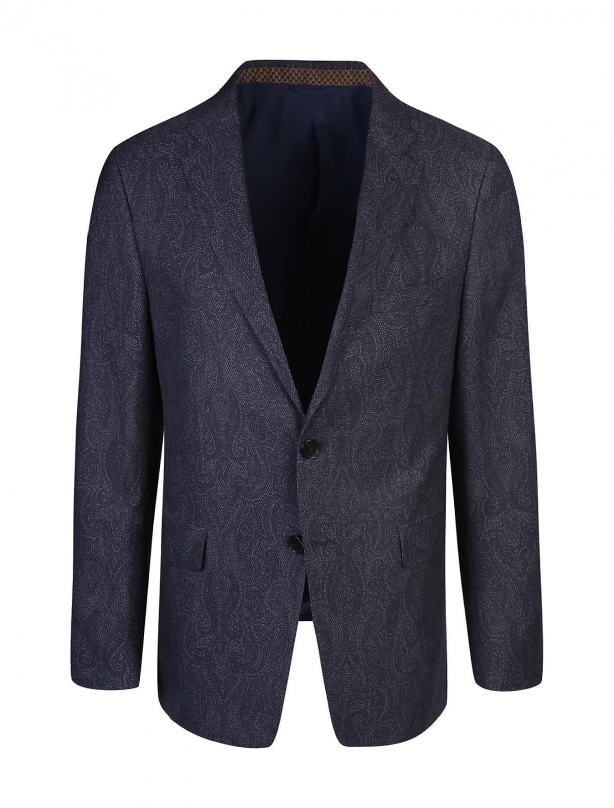 Пиджак из хлопка и шерсти с узором Etro  –  Общий вид