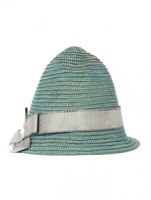 Плетеная шляпа с бантом - Общий вид