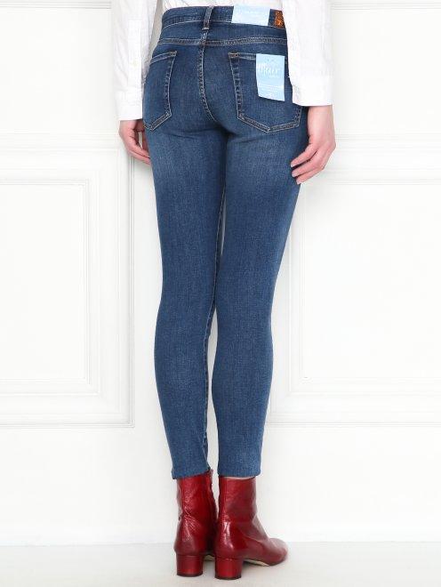 Укороченные джинсы зауженного кроя  - МодельВерхНиз1