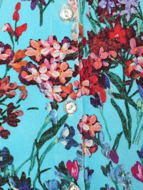 Кардиганы с цветочным принтом из вискозы  - Деталь